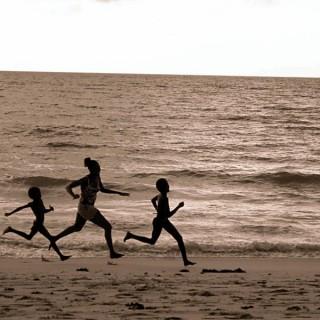 Corridori in spiaggia